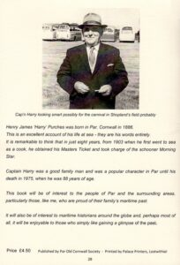 Cap'n Harry, back cover