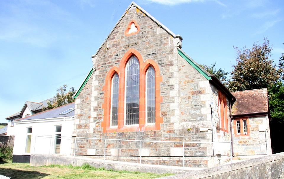 Mawla Wesleyan Chapel 2020 showing hall/schoolroom (Photo: Tony Mansell)
